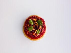 Tartelette met rode kool en appel